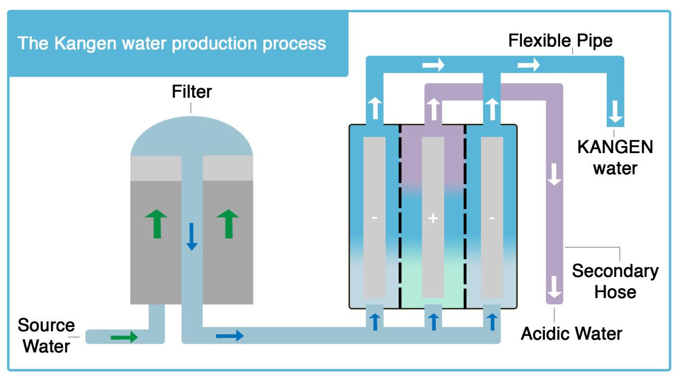 H ηλεκτρόλυση του νερού Kangen Water